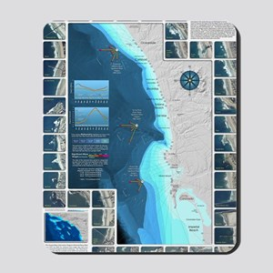 CafePress Surf Map Mousepad